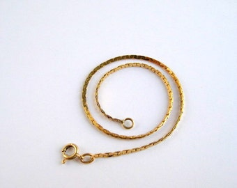 14K Gold Chain Bracelet Delicate Single Strand