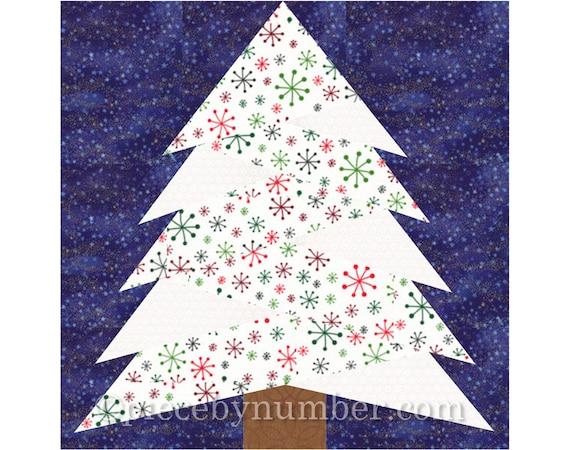 Pine Tree quilt block pattern paper piecing quilt pattern : pine tree quilt block - Adamdwight.com