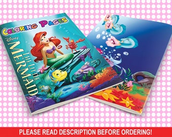 INSTANT DOWNLOAD only with payment in PayPal! Mini Coloring pages, Mini book Mermaid, Mermaid coloring pages, Ariel coloring pages