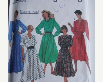 ON SALE 1990's Sewing Pattern - Simplicity 9951 Easy Sew Dress Three Lengths Size 10-14 Uncut, Factory Folded