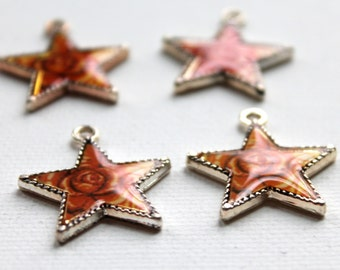 4 AAI Rose Star Charms