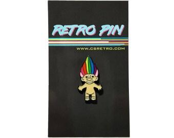 Troll Metal Enamel Clutch Hat Backpack Flair Vest Pin vintage retro style