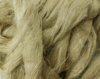 1 pound flax combed top, roving, spinning fiber, linen, fiber, natural color, plant fiber, vegan, fibre