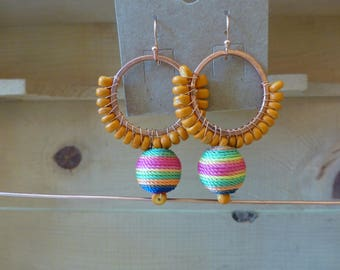 Fun multi color earrings