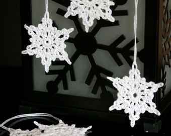 Crochet Snowflake Ornaments SMALL - set of 6 (hand crochet)