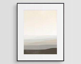 Neutral Wandbilder, große abstrakte Kunst-Druck, minimalistischen Kunst, skandinavischen Moderne abstrakte, Beige und schwarz Kunst, große Wand Kunstdruck