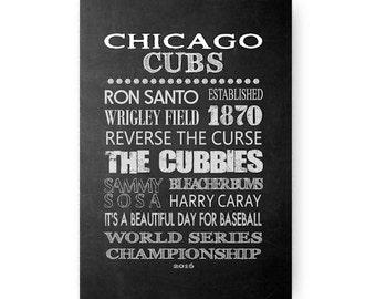 Chicago Cubs Chalkboard Digital Download