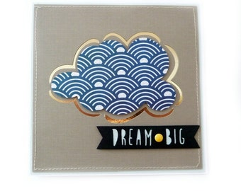 DREAM BIG Blank Handmade Card
