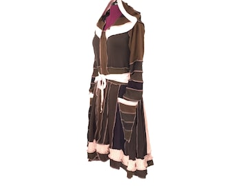 "Norwegian Wood"" - Upcycled Sweater Coat - Recycled Clothing - Recycled Sweater Coat - Upcycled Sweater - Festival Sweater Coat"