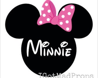 Personalized Minnie Mouse Print