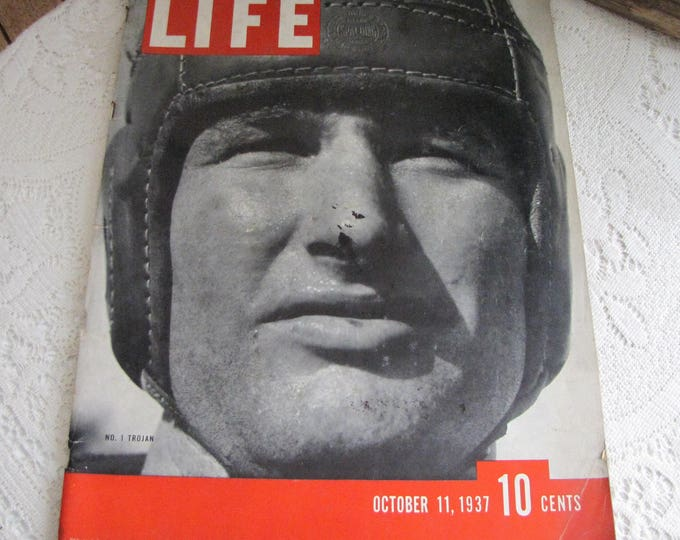 Life Magazines 1937 October 11 No. 1 Trojan Vintage Magazines and Advertising
