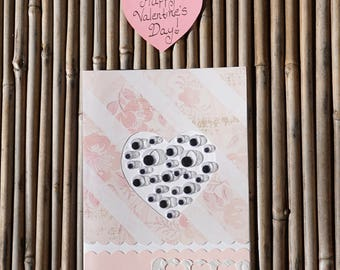 Love Card – Handmade Card - Birthday Card – Anniversary Card – Romantic Card – Anytime Card –  I Only Have Eyes For You Love Card