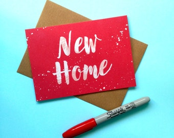 Moving Card, New Home Card, Housewarming Card, New House Cards, New Neighbours Card