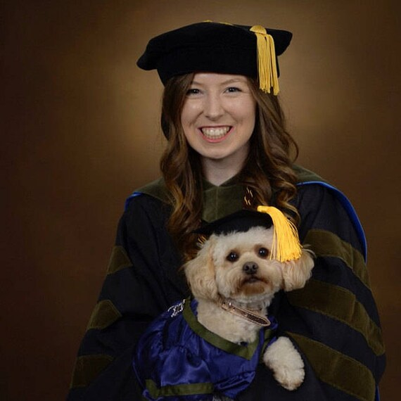 Dog Graduation Cap & Gown Therapy Dog Graduation Cap Graduation Gown