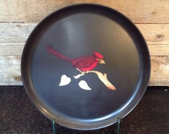 Couroc Of California Plate - Cardinal On Branch
