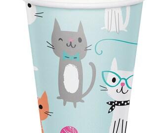 Pretty Kitty Birthday Party Cups/ Cat Birthday Party Cups/ Kitty Party Cups/ Cat Party