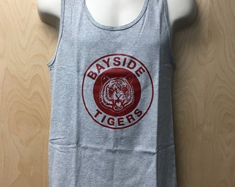Bayside Tigers Logo Tank Top AC Slater Halloween Costume TV Show Varsity Wrestling Team Wrestler High Zack Morris Shirt A.C. 90s Gift Idea