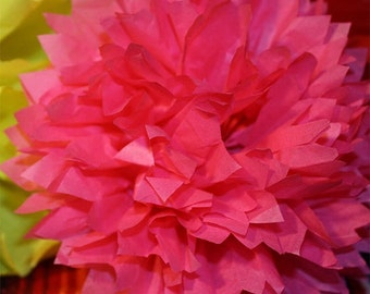 LARGE - 5 Mexican Paper Flowers for Your FIESTA