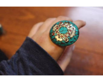 Traditional Adjustable Chunky Statement Ring Fashion Ethnic Jewellery Tribal