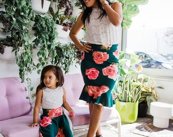 Mommy and me green skirts green and pink skirts for mommy and me outfit  sc 1 st  Etsy & Morgan LaRoche on Etsy