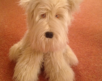 A cute little Westie look alike....pretty easy to complete