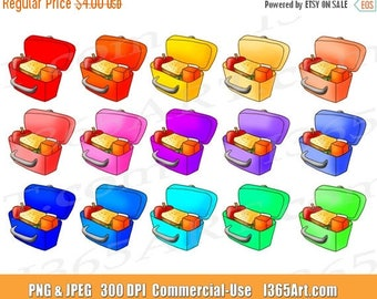 50% OFF Lunch Box Clip Art, Lunchbox Clip art, School Lunches, Children's Lunches, Hand Drawn, Meals, Digital, Planner, PNG, Commercial
