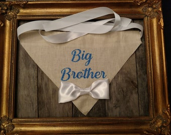 Big Brother Dog Bandana, Dog collar, Big Brother, Dog Bandana Celebration