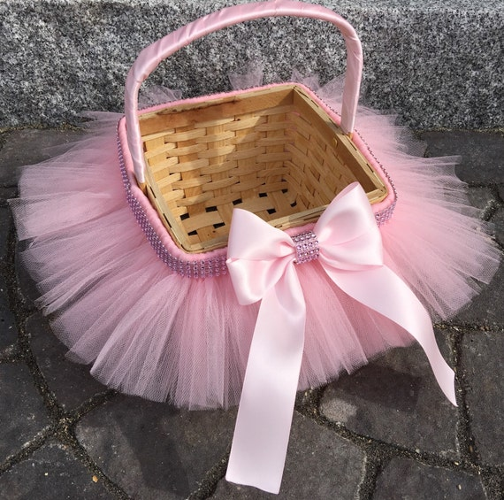 Princess easter tutu basket flower girl basket tutu basket negle Choice Image