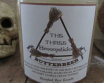 Three Broomsticks Butterbeer scented soy wax candle - Harry Potter inspired