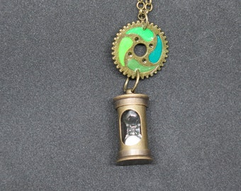 Necklace Steampunk Element of Earth
