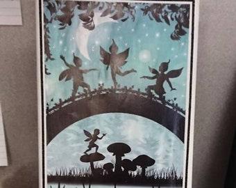 Fairys in the moonlight mini canvas