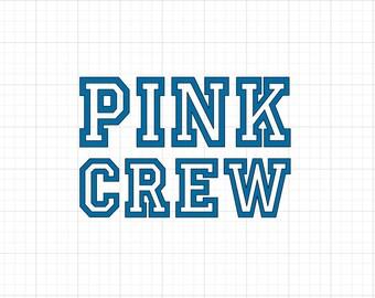 Pink Crew - Iron On Vinyl Decal Heat Transfer