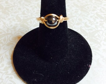 Hemitite wire wrapped ring