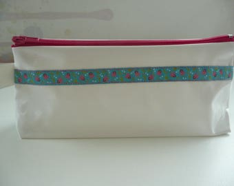 Kit in white oilcloth with pretty Ribbon N ° 3