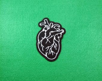 Real Heart - a main part of body - Embroidery Iron on Patch