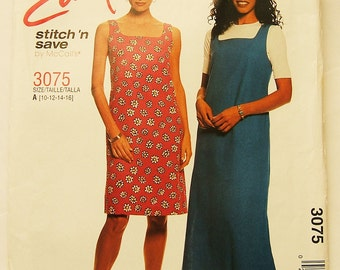 McCalls 3075 uncut Stitch 'n Save Dress size 10 - 16