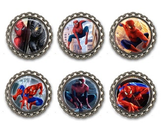 Spider-Man Inspired Bottle Caps Necklace/ Keychain/ Zipper Pulls