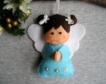 Christmas Ornament - Christmas Angel - Angel Wings - Angel Ornament - Angel Figurine - Angel Decor - Felt Ornament - Christmas Gift