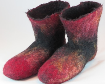 Firey wool adult slippers