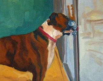 Boxer Dogs Original Fine Art Print
