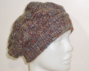 Brown Hat Womens gift for woman, unique gift, hand knitted, Knit, Winter Hat, Women's hat, for her, Mom, Mothers Day, Mother's Day Gift