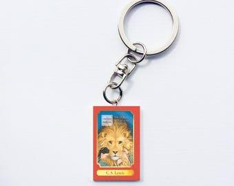 Chronicles of Narnia mini book keychain