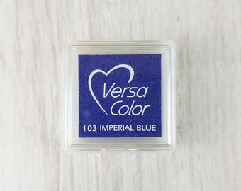 VersaColor Pigment Ink Pad Small in Imperial Blue - Ink for stamp - Inkpad for Rubber Stamp - Versa Color - Colour Ink Pad - Royal Blue Ink