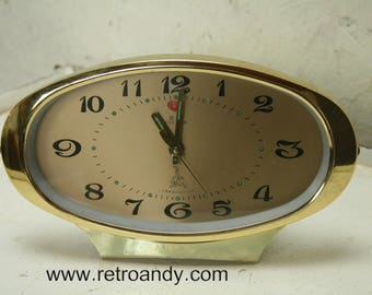 Atomic five rams vintage alarm clock