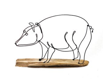 Pig Wire Sculpture, Wire Sculpture, Wire Art, 566447021