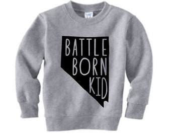 Battle Born Kid, Nevada, Toddler Graphic pullover sweatshirt
