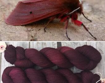 Ruby Tiger Moth DK, merino nylon blend indie dyed yarn
