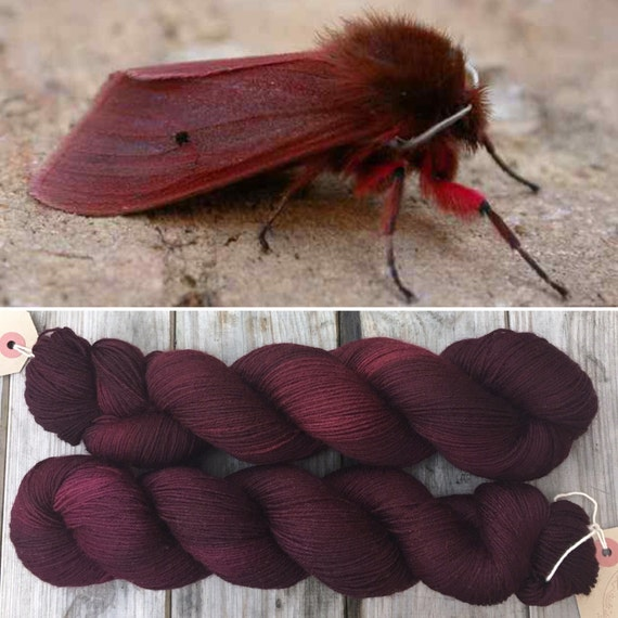 Ruby Tiger Moth DK, merino nylon blend indie dyed yarn