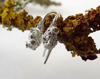 Small Lichen Drop Earrings