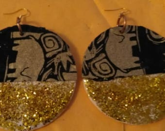 large glitter earrings
